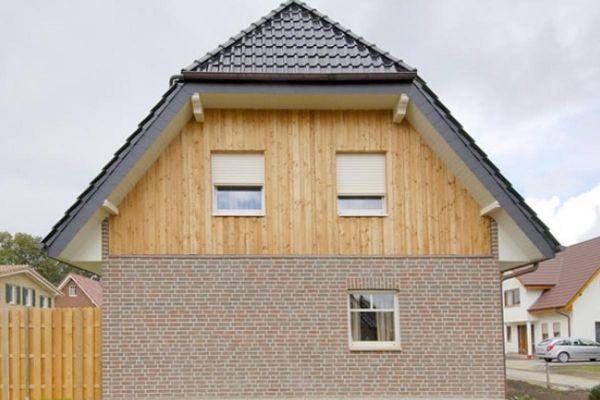 Einfamilienhaus H1 mit Klinker 103-121-WDF braun-rot