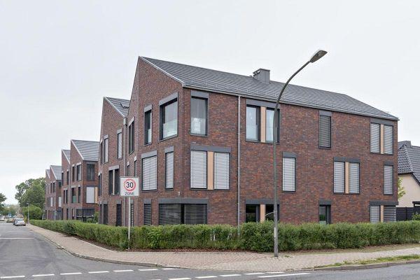 Mehrfamilienhaus  H2 mit Klinker 103-207-ModF braun - blau -bunt