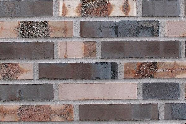Strangpress-Klinker / Verblender BK-108-154-DF braun-bunt Dünnformat (DF)