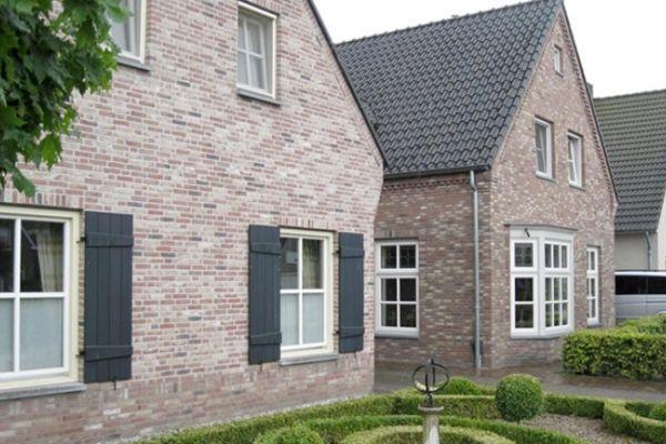 Einfamilienhaus mit Klinker 103-140-WF braun-bunt