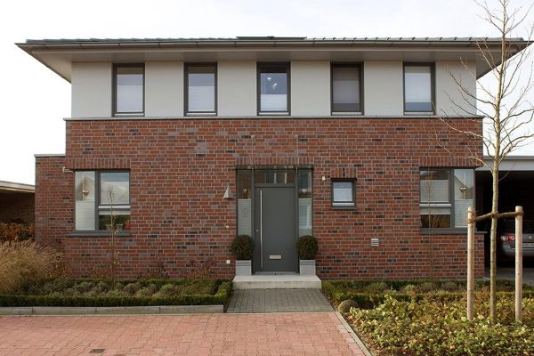 Stadtvilla H1 mit Klinker 102-114-NF rot-Kohle