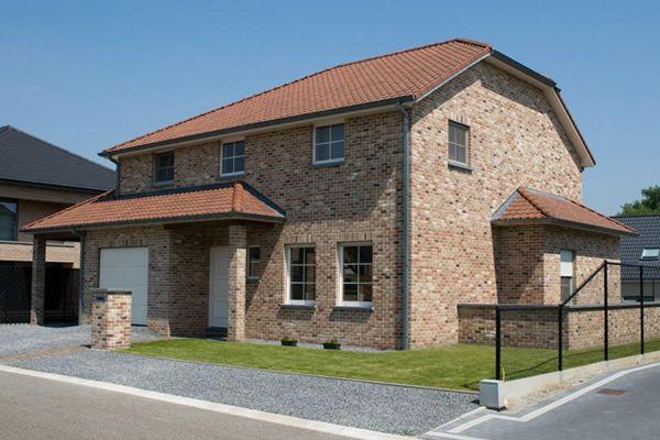 Einfamilienhaus H6 mit Klinker 103-106-WDF braun-bunt