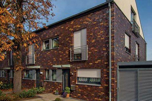 Mehrfamilienhaus H1 mit Klinker 101-152-NF rot - bunt