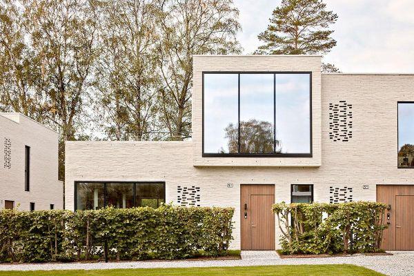 Bauhaus H1 mit Klinker 122-113-ModF weiß