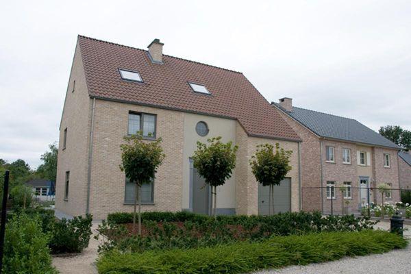 Einfamilienhaus H2 mit Klinker 103-188-ModF gelb -weiß nuanciert