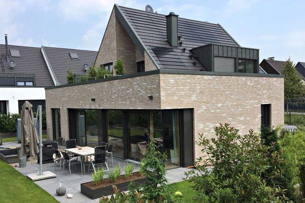 Einfamilienhaus H2 mit Klinker 101-145-ModF beige - grau