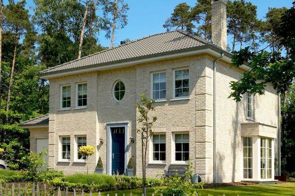 Stadtvilla H4 mit Klinker 103-165-WDF bronze, weiß nuanciert