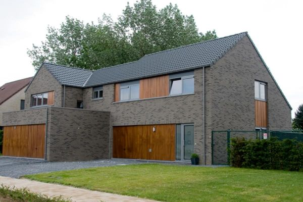 Modernes Einfamilienhaus  H1 mit Klinker 103-190-WDF grau - anthrazit