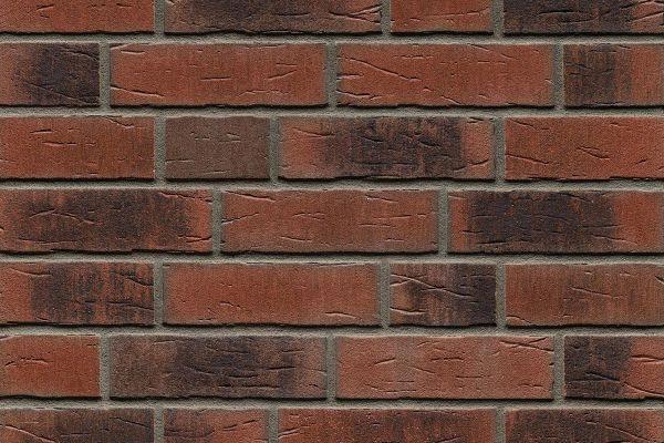 Strangpress-Riemchen BK-R-114-685 (Normalformat (NF)) rot - braun  nuanciert (Klinkerriemchen)