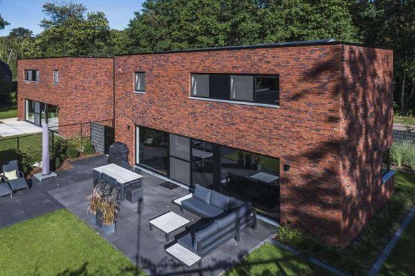 Doppelhaus H1 mit Klinker 103-173-WDF rot - braun