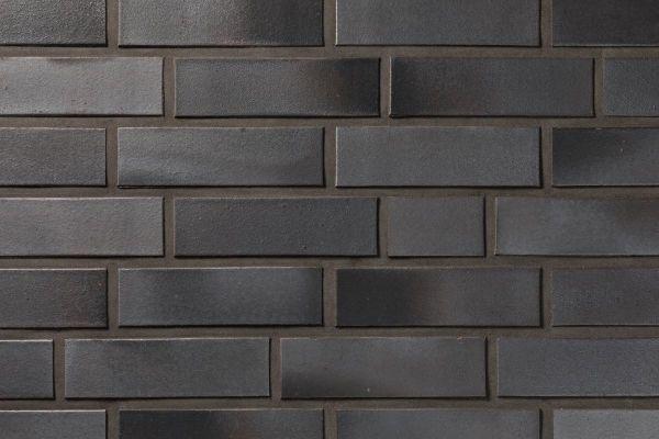 Strangpress-Klinker / Verblender BK-108-101-NF (Normalformat-Klinkerstein (NF)) schwarz-grau