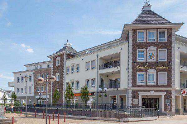 Mehrfamilienhaus / Bürogebäude H1 mit Klinker 103-174-NF beige - rot