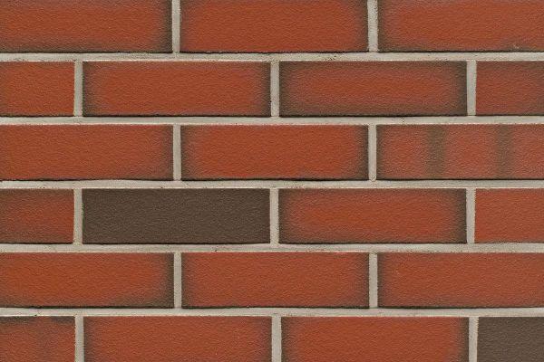 Strangpress-Riemchen BK-R-114-303 (Normalformat (NF)) rot - grau nuanciert (Klinkerriemchen)