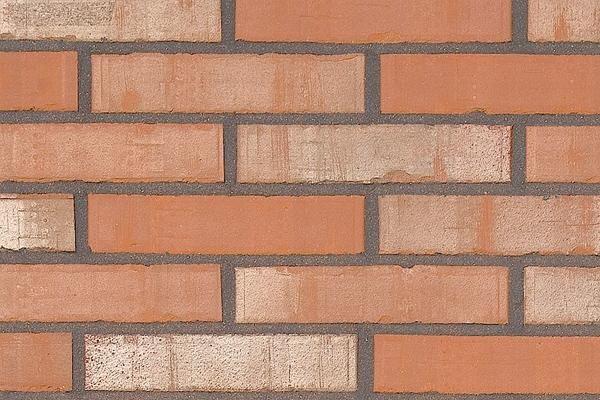 Strangpress-Klinker / Verblender BK-108-167-DF rot-bunt Dünnformat (DF)