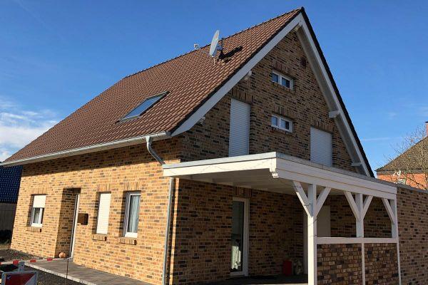 Einfamilienhaus H11 mit Klinker 104-109-NF rot-bunt