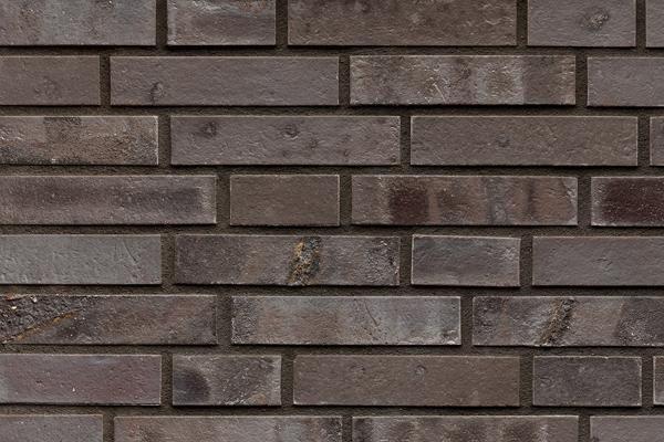 Strangpress-Klinker / Verblender BK-101-107-DF braun - grau - geflammt Dünnformat (DF)
