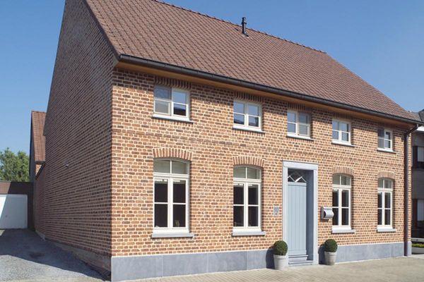 Einfamilienhaus H1 mit Klinker 103-189-WDF rot - blau - bunt
