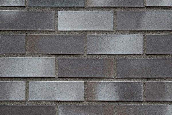 Strangpress-Klinker / Verblender BK-108-127-2DF (Zweifaches Dünnformat-Klinkerstein (2DF)) schwarz-grau