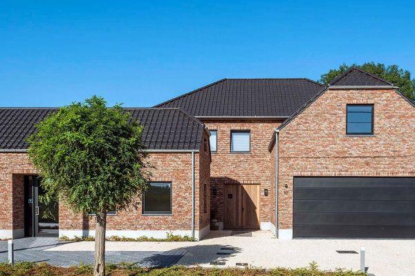 Einfamilienhaus H4 mit Klinker 103-111-WDF rot-bunt