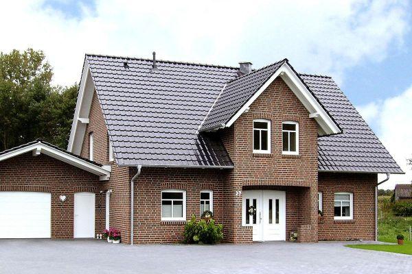 Einfamilienhaus  H2 mit Klinker 104-101-NF rot-braun