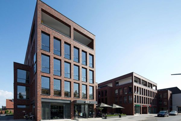 Bürogebäude H1 mit Klinker 102-107-NF rot-braun