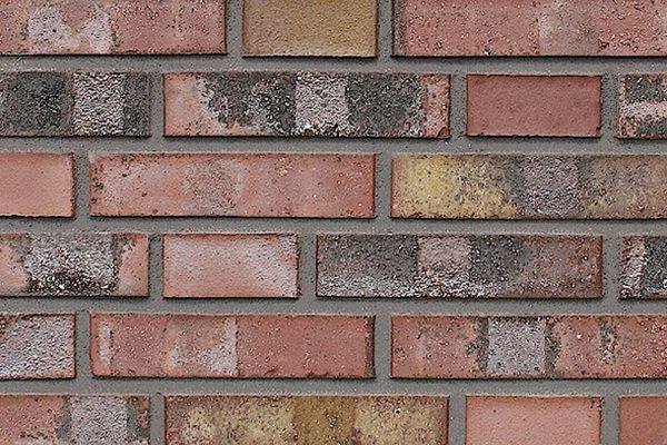Strangpress-Klinker / Verblender BK-108-119-DF (Dünnformat (DF)) rot-bunt
