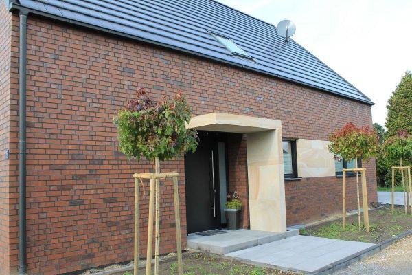 Einfamilienhaus Mit Pultdach H2 mit Klinker 101-103-NF rot - bunt -Kohle