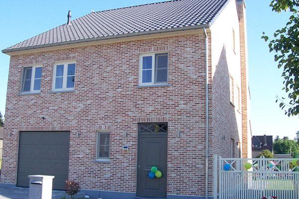 Einfamilienhaus H2 mit Klinker 103-212-ModF orange - rot - bunt