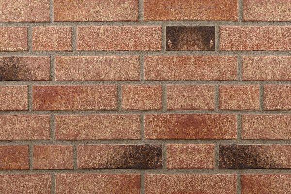 Strangpress-Riemchen BK-R-107-145-NF (Normalformat (NF)) rot, braun nuanciert (Klinkerriemchen)