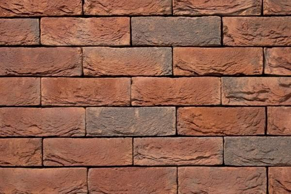 Handform-Klinker / Verblender BK-103-141-NF braun-rot Normalformat (NF)