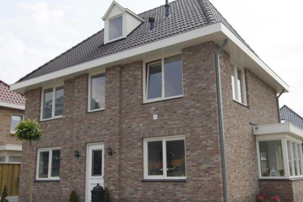 Stadtvilla mit Klinker 103-140-WF braun-bunt