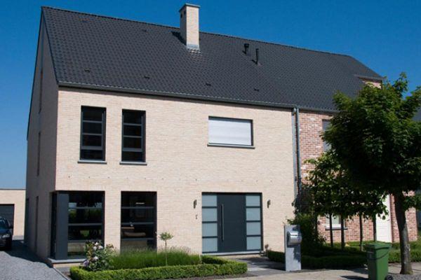 Einfamilienhaus H2 mit Klinker 103-164-WDF gelb, weiß nuanciert