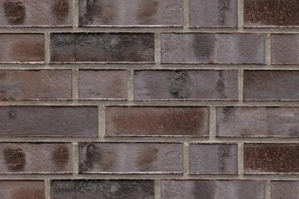 Strangpress-Klinker / Verblender BK-101-108-NF braun - grau - geflammt Normalformat (NF)