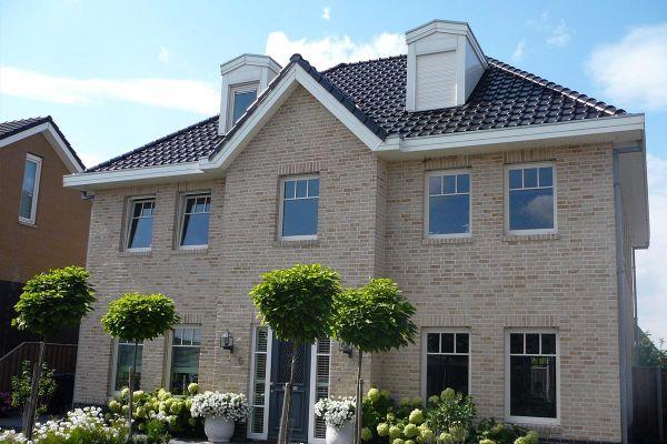 Einfamilienhaus / Stadtvilla H1 mit Klinker 103-110-WDF gelb-bunt
