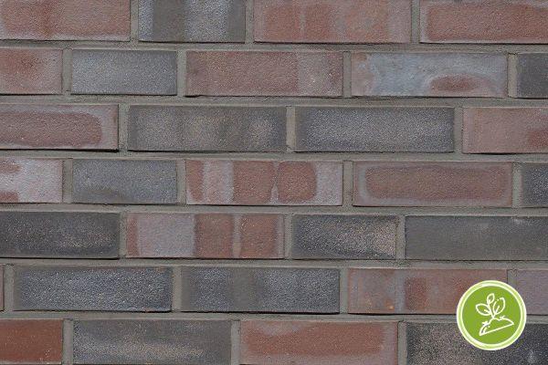 Strangpress-Riemchen BK-R-117-209-NF (Normalformat (NF)) rot , grau nuanciert (Klinkerriemchen)