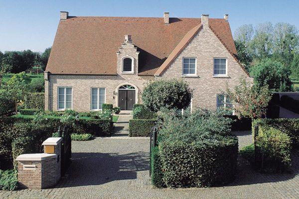 Einfamilienhaus H1 mit Klinker 103-140-WF braun-bunt