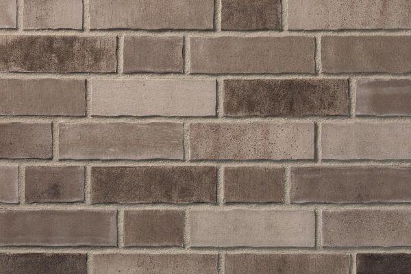 Strangpress-Riemchen BK-R-103-463 (Normalformat (NF)) grau - braun - nuanciert (Klinkerriemchen)