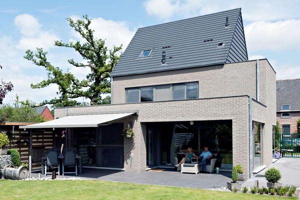 Einfamilienhaus H2 mit Klinker 103-163-WDF braun - grau nuanciert