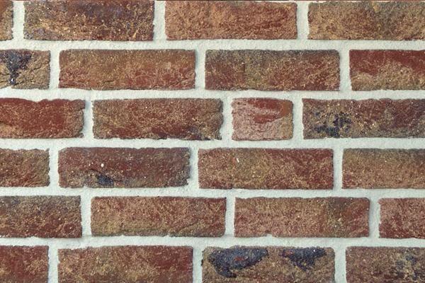 Handform-Klinker / Verblender BK-113-111-WDF rot - gelb, Kohle Waaldickformat (WDF)