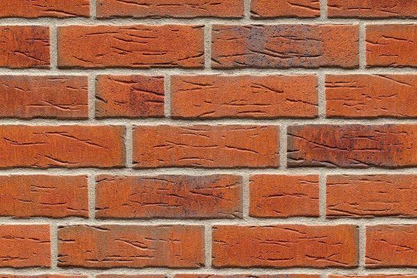 Strangpress-Riemchen BK-R-114-687 (Normalformat (NF)) rot nuanciert (Klinkerriemchen)