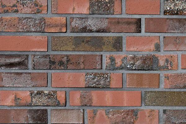 Strangpress-Klinker / Verblender BK-108-147-DF (Dünnformat-Klinkerstein (DF)) rot-braun