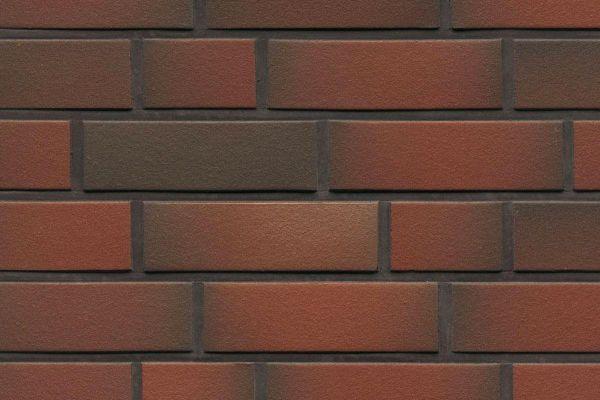 Strangpress-Riemchen BK-R-114-382 (Normalformat (NF)) rot  nuanciert (Klinkerriemchen)