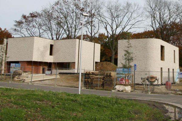Bauhaus / Einfamilienhaus H1 mit Klinker 103-213-WDF weiß-grau