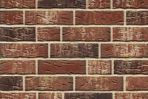 Strangpress-Riemchen BK-R-114-658 (Normalformat (NF)) rot - bunt  nuanciert (Klinkerriemchen)