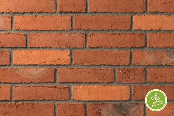 Wasserstrich-Klinker / Verblender BK-111-115-RF (Reichsformat-Klinkerstein (RF)) rot - orange