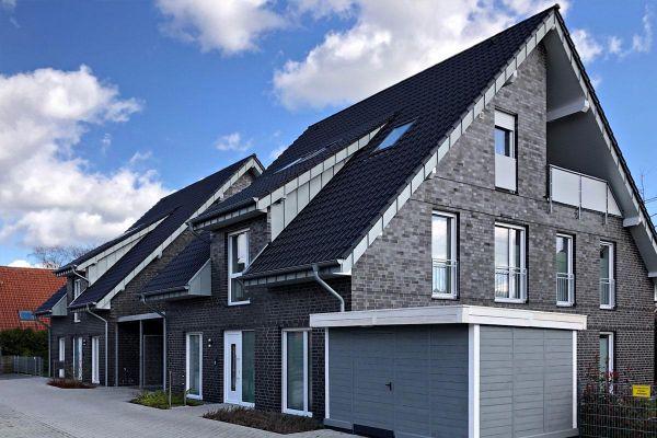 Doppelhaus H1 mit Klinker 101-119-NF grau - anthrazit