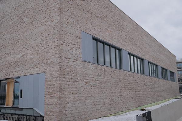 Bürogebäude H1 mit Klinker 102-134-DF grau - braun nuanciert