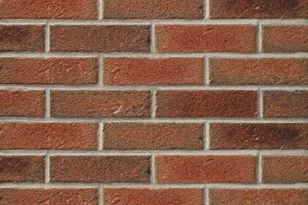 Strangpress-Riemchen BK-R-104-14-NF (Normalformat (NF)) rot bunt (Klinkeriemchen)